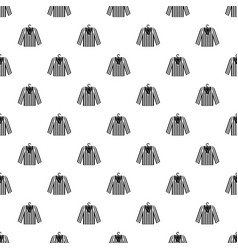 Striped pajama shirt pattern vector