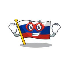 Super hero flag russian stored in cartoon cupboard vector