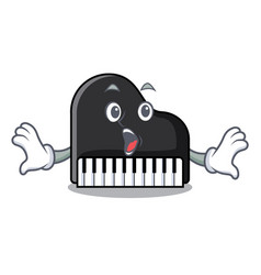 surprised piano mascot cartoon style vector image