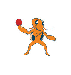 table tennis hermit vector image