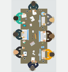 teamwork for office desk business strategy new vector image