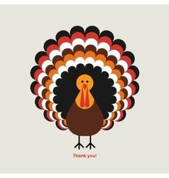 Thanksgiving greeting card vector