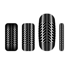 Tire track 4 vector