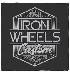 vintage label design with lettering composition vector image