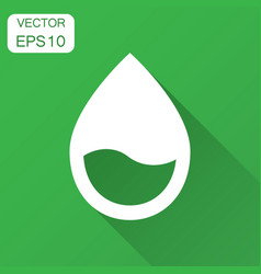 Water drop icon in flat style raindrop with long vector