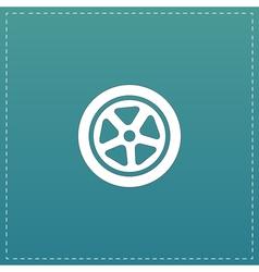 wheel icon vector image