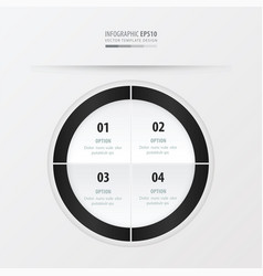 circle presentation template black and white vector image vector image
