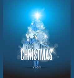 corporate Christmas card vector image