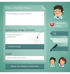 Doctors online consultation form vector