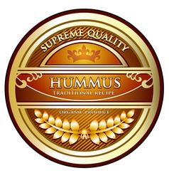 Hummus Traditional Recipe vector image