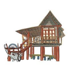 Rustic building vector image vector image