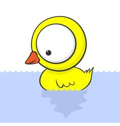 cartoon baby duck vector image vector image