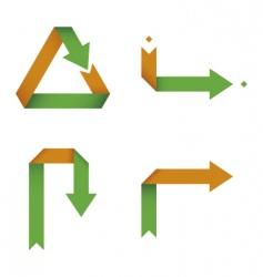 folding arrows collection vector image vector image