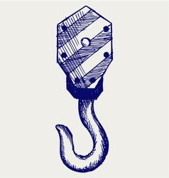 Hook of a crane vector image vector image