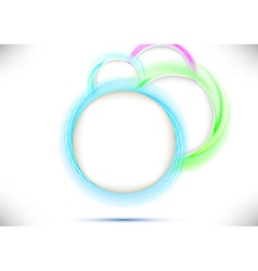 Perspective view with colorful circles vector image