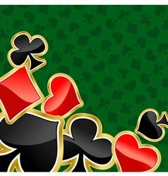 Poker background vector
