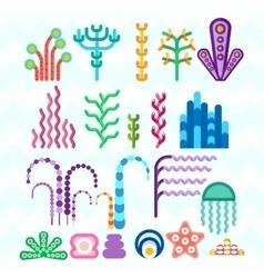 underwater coral plants vector image