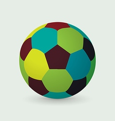 Unique colorful soccer ball vector image vector image