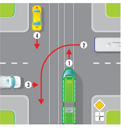 urban traffic top view concept vector image vector image