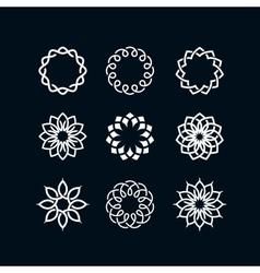 Flower symbols vector image