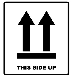 Top side This side up symbol Icon of Side Up vector image vector image