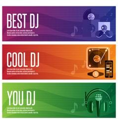 banners set of dj and music theme vector image