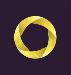 creative logo template ribbon in circle vector image vector image