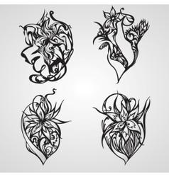 decorative ornament set vector image