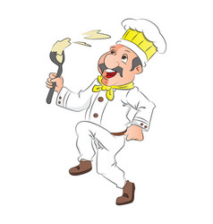 happy chef on white background vector image