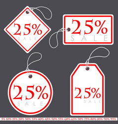 set of bright white-red sale banners with various vector image vector image