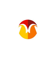 shape geometry unusual company logo vector image