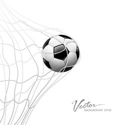 Soccer ball in net vector image