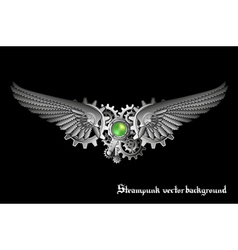 Steampunk wings vector image