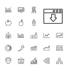 22 infographic icons vector