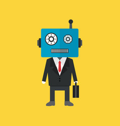 484robot businessman vector image