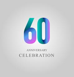 60 year anniversary celebration template design vector