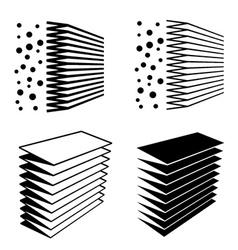 Air filter effect black symbol vector
