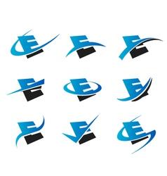 Alphabet e logo icons vector