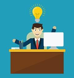 An innovation idea employee vector