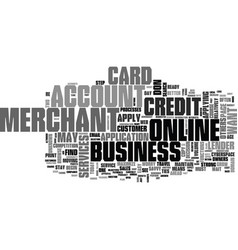 Apply for a business credit card text word cloud vector