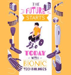 Bionic prosthesis isometric concept vector