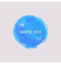 Blue watercolor round element vector