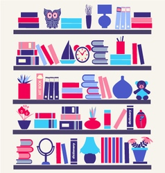 Books on the Bookshelves vector