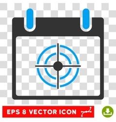 Bullseye Calendar Day Eps Icon vector