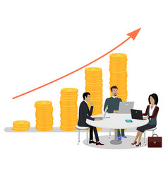 business people and investments growth vector image