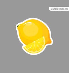 cartoon fresh lemon isolated sticker vector image