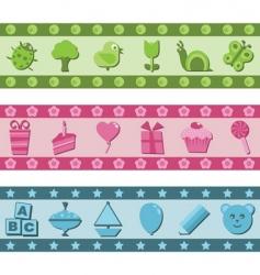 children's banners vector image