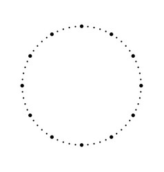 Clock face blank hour dial dots mark minutes and vector