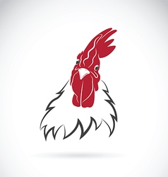 Cock head on white background vector image