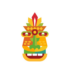 Colorful ethnic tribal ritual mask vector